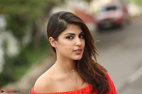 Rhea Chakraborty in Red Crop Top and Denim Shorts Spicy Pics ~  Exclusive 353.JPG