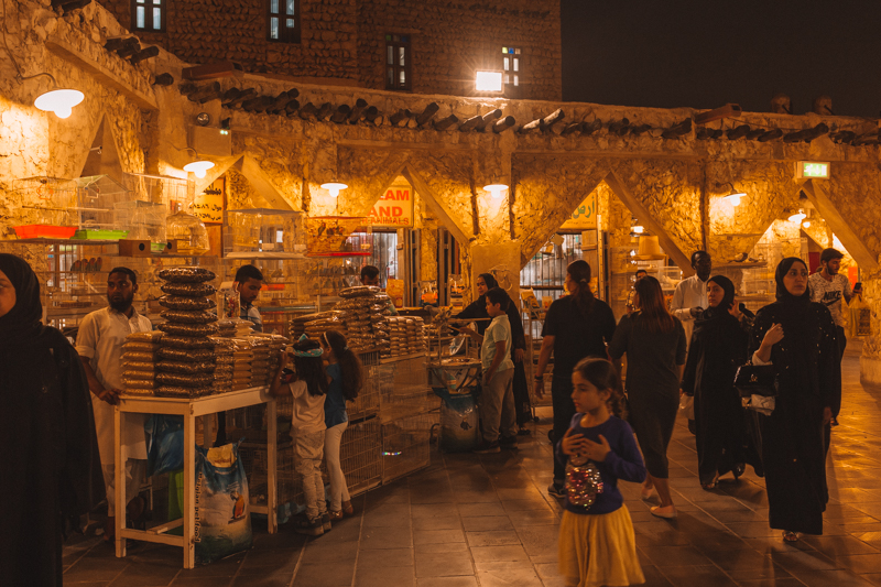 Doha Souks At Night