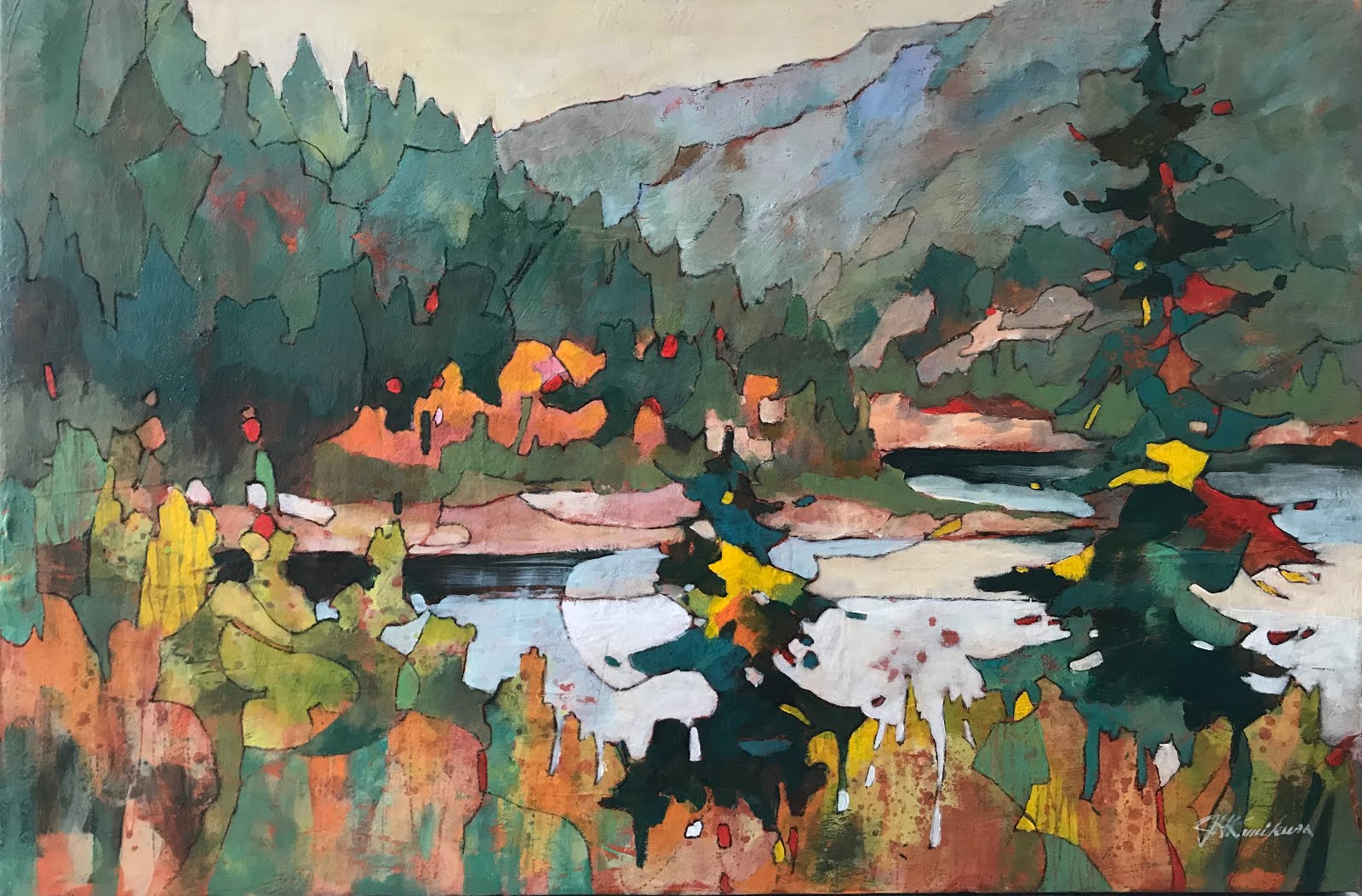 The Selkirk Range 24x36""