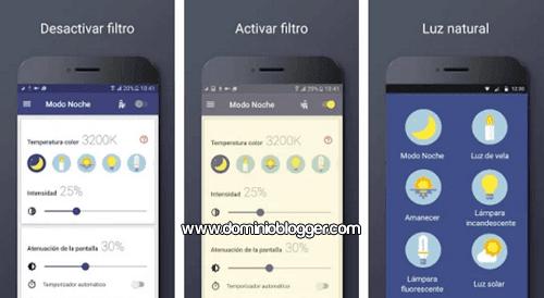 App Filtro luz azul para Android