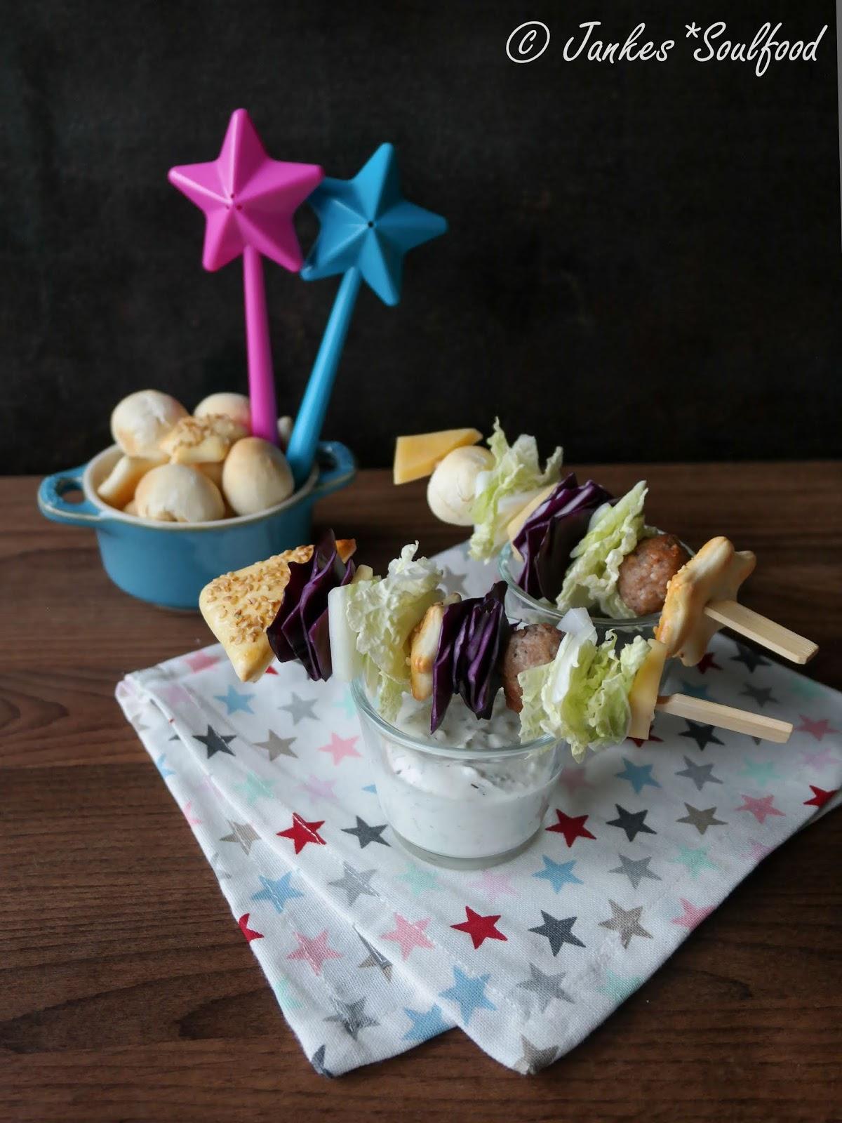 Salat-Raketen für die Silvester-Party