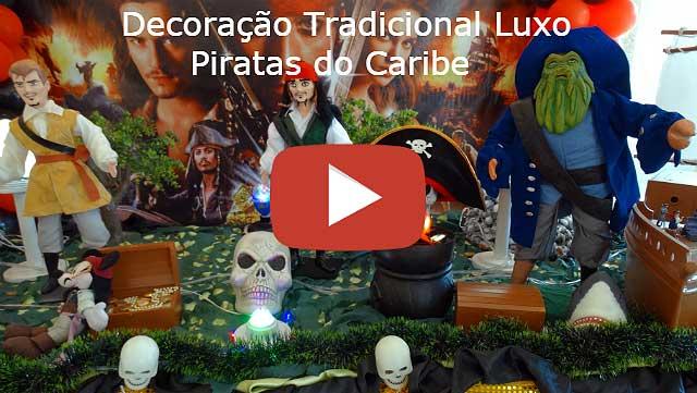 Decoração tradicional luxo tema Piratas do Caribe