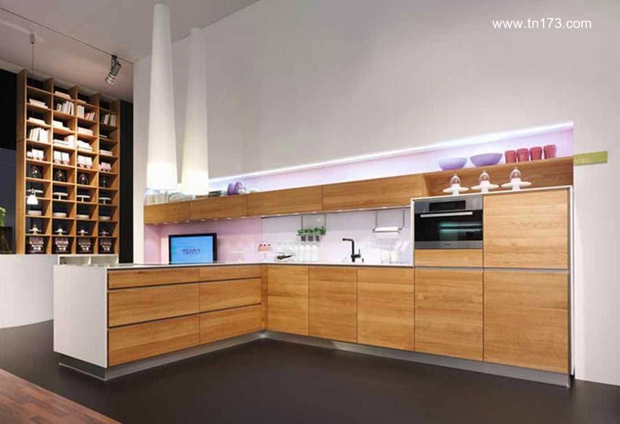 Mobiliario contemporáneo de cocina en forma de L