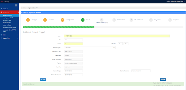 Cara Membuat NPWP Pribadi Secara Online e-Registration Terbaru 2018