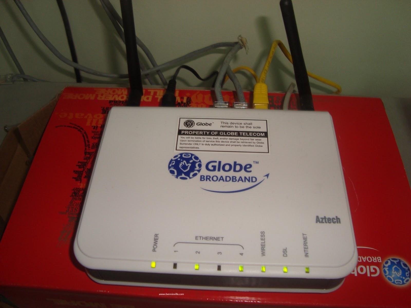 Globe Broadband Aztech Dsl605ew Modem Wifi Router Pros