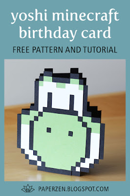 Yoshi Minecraft SVG Card