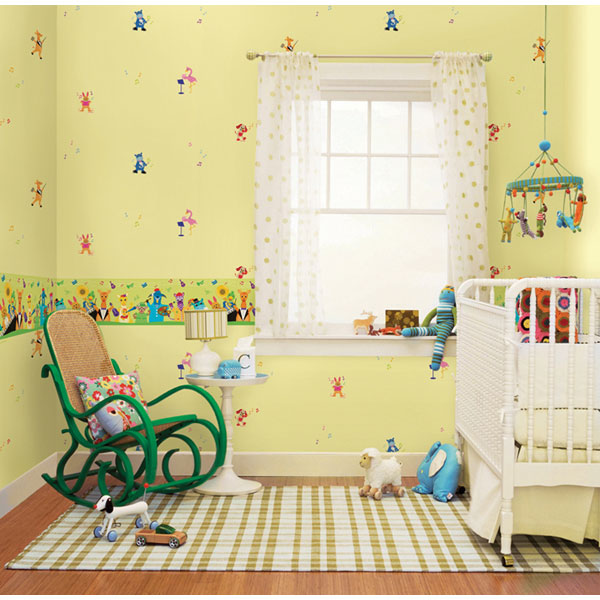 Tư vấn chọn mẫu giấy dán tường đáng yêu cho bé 2 tuổi