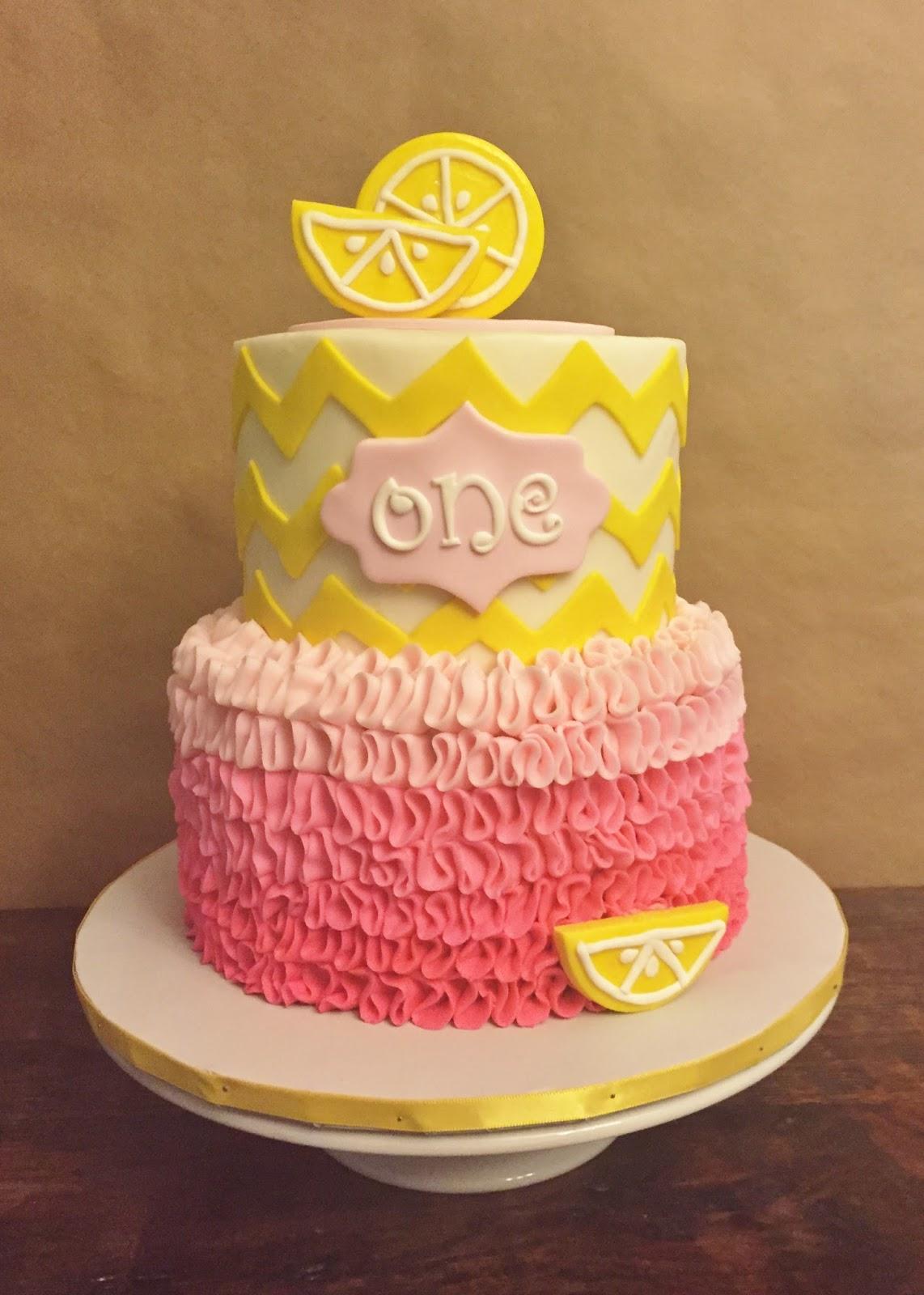 Awesome Cakes By Mindy Lemonade Birthday Cake 6 8 And Smash Cake 4 Funny Birthday Cards Online Drosicarndamsfinfo