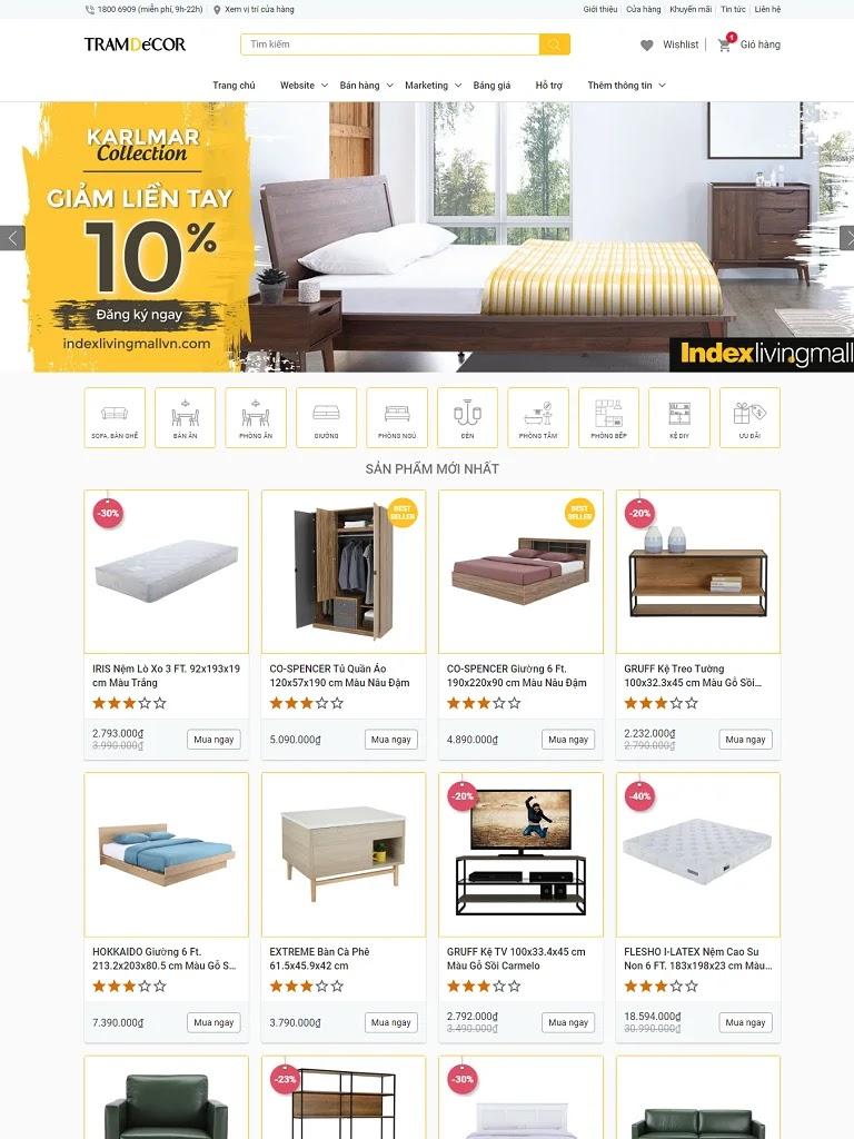 Template blogspot bán hàng nội thất đẹp chuẩn seo