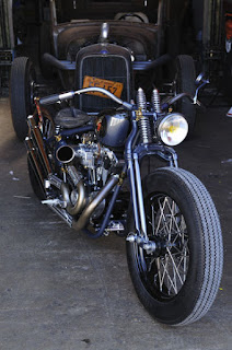 rusthless racer ironhead 1000 bobber by graffi bike front right