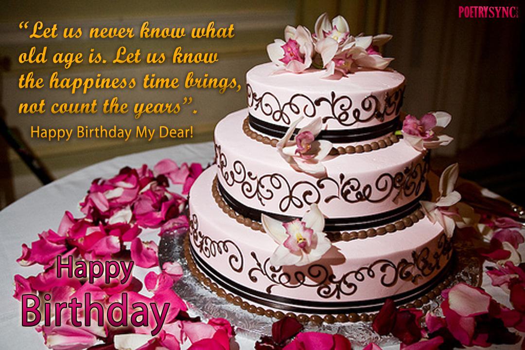 Images Of Birthday Cake Greetings : Happy Birthday Cake - Love & Relationship