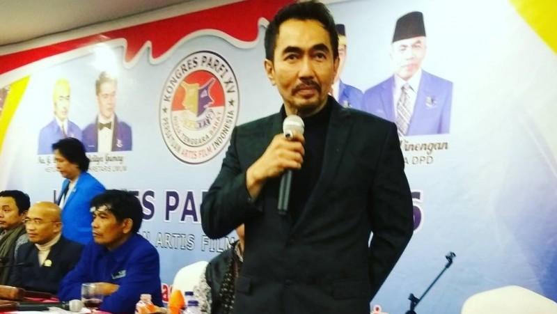 Gatot Brajamusti, usai terpilih menjadi Ketua umum PARFI 2016-2021