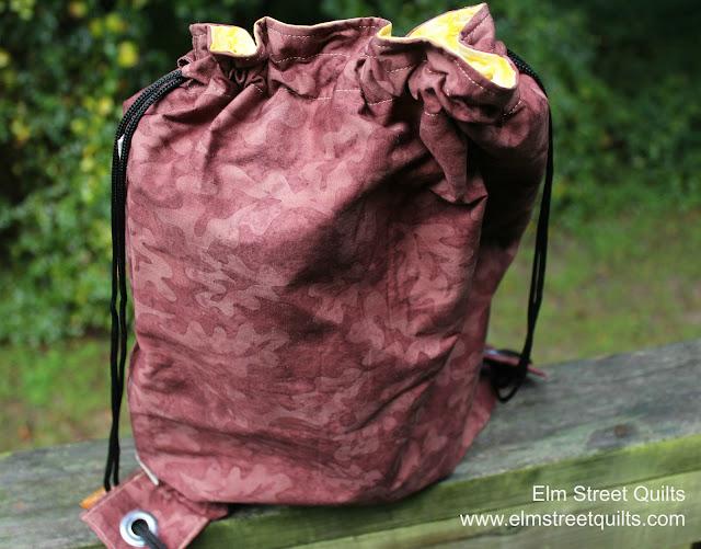 Elm Street Quilts Drawstring Backpack