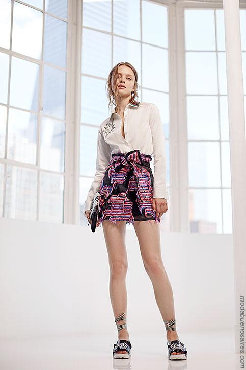 Looks tendencia de moda primavera verano 2018.