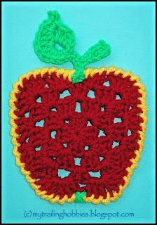 crochet granny apple - free crochet pattern - bohemian flower - mytrailinghobbies