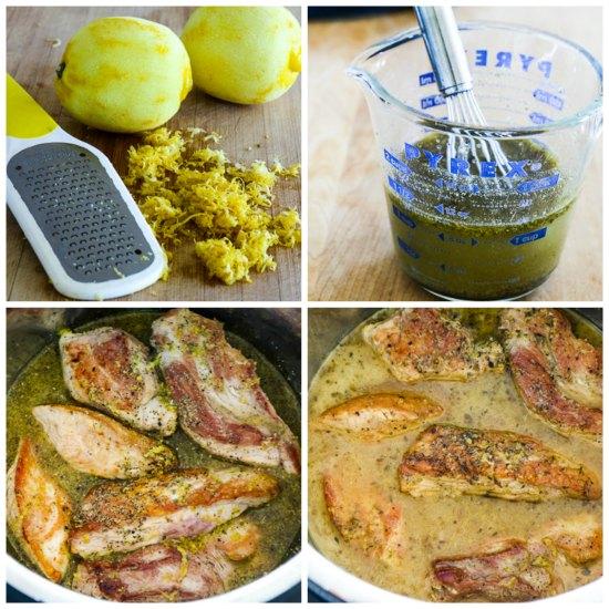 Instant Pot (or Slow Cooker) Low-Carb Greek Pork Tacos found on KalynsKitchen.com