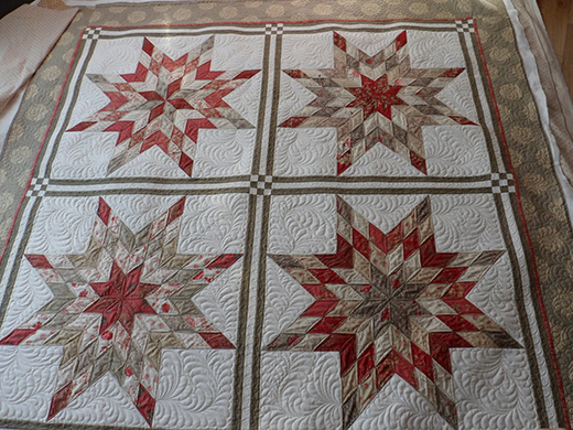 Jellied Lone Star Quilt Designed by Belinda of Eucalypt Ridge Quilting, The Tutorial by Terri Ann Swallow for Moda Bake Shop