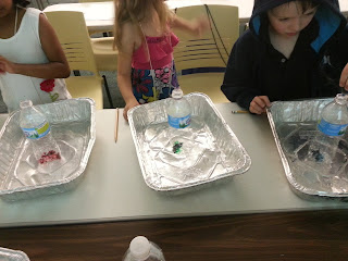Making Elephant Toothpaste with primary students- science experiment