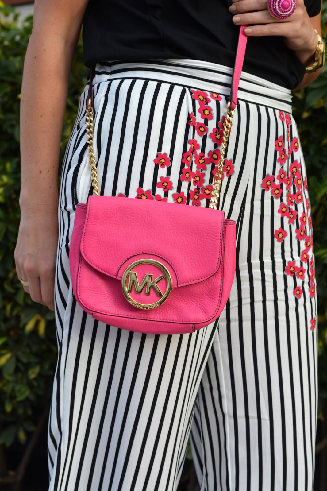 michael-kors-pink-bag-striped-culottes