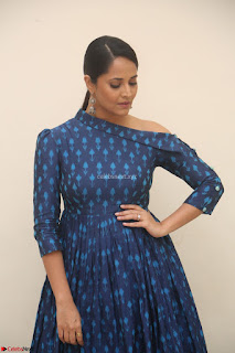 Anchor Anasuya in a Blue Gown at Jai Lava Kusa Trailer Launch ~  Exclusive Celebrities Galleries 018.JPG