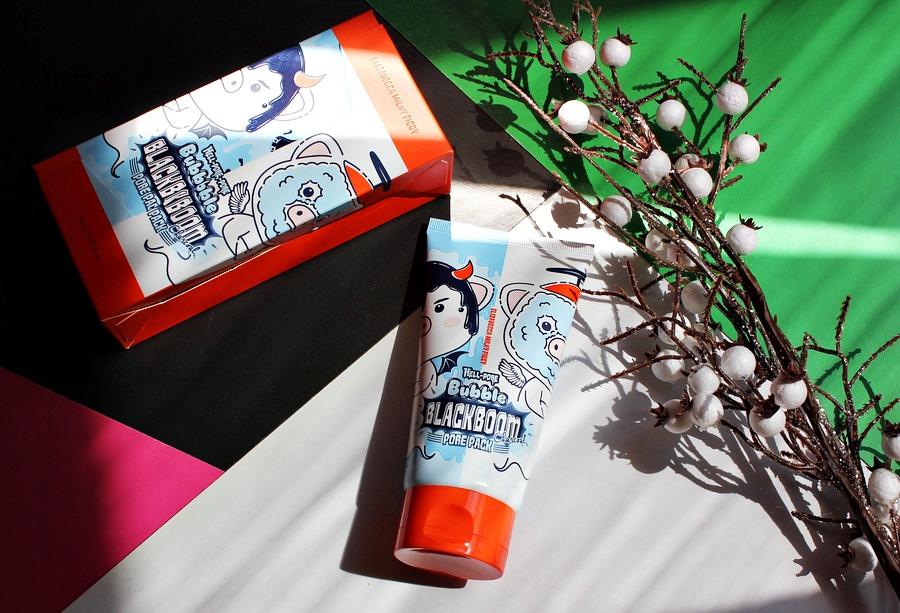 Очищающая кислородная маска Elizavecca Hell-Pore Bubble Black Boom Pore Pack / обзор, отзывы
