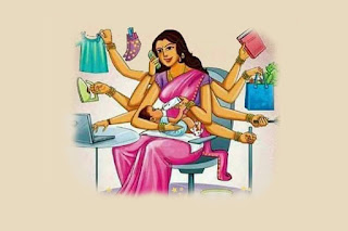 Image result for working women in home