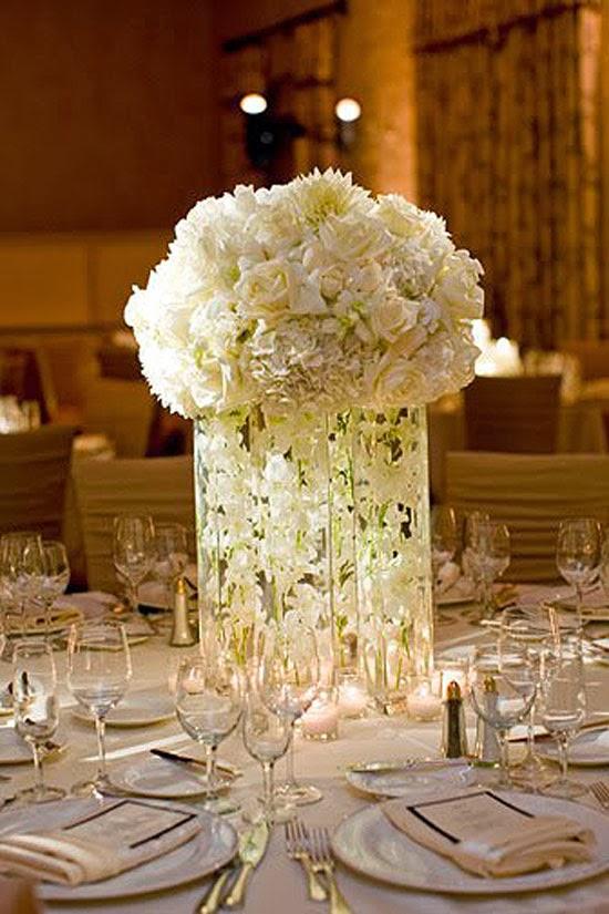 White Wedding Centerpieces   Wedding Stuff Ideas