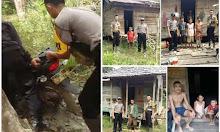 Polisi Sekadau Sambangi Warga di Spasa Dusun Janang Sebatu