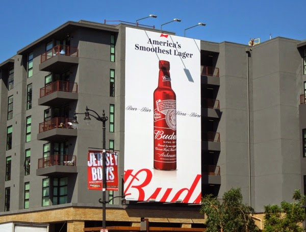 Budweiser America's smoothest lager billboard