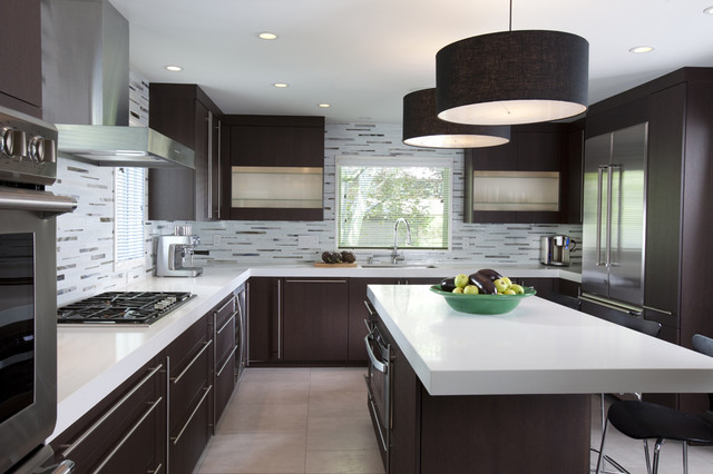 Designing Inspiration With Brown Kitchen Cabinets