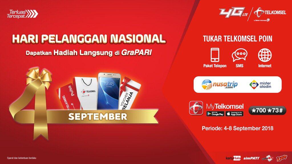 Telkomsel - Promo Tukar POIN di Spesial Hari Pelanggan Nasional (s.d 8 Sept 2018)