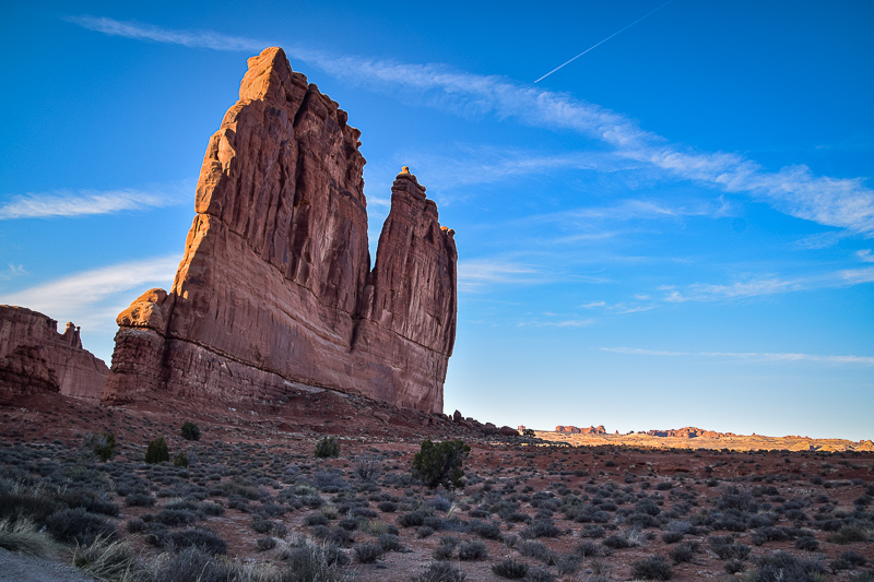 Courthouse towers rock, arches national park