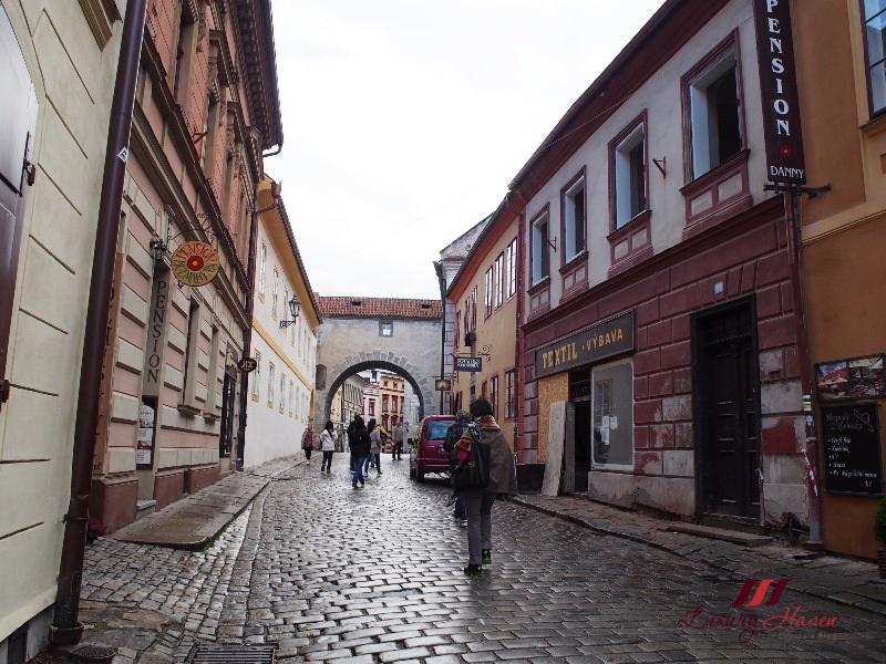 eastern europe cesky krumlov cobblestone streets