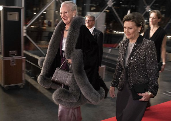 Queen Sonja and Queen Margrethe attend the Opera Gala of The Queen Sonja International Music Competition