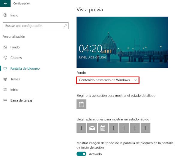 Cómo quitar los anuncios de la pantalla de bloqueo de Windows 10