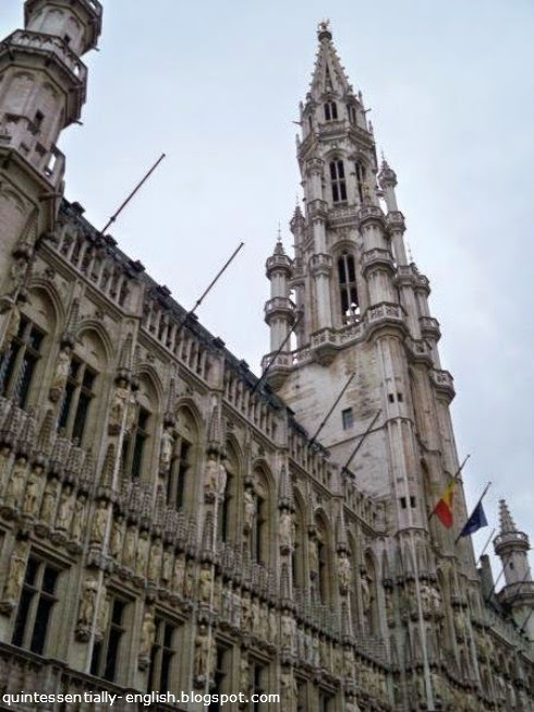 Town Hall in Grand Place - Brussels, Belgium