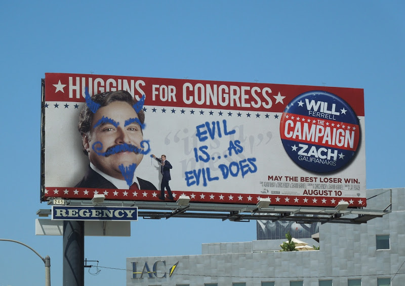 Campaign defaced billboard