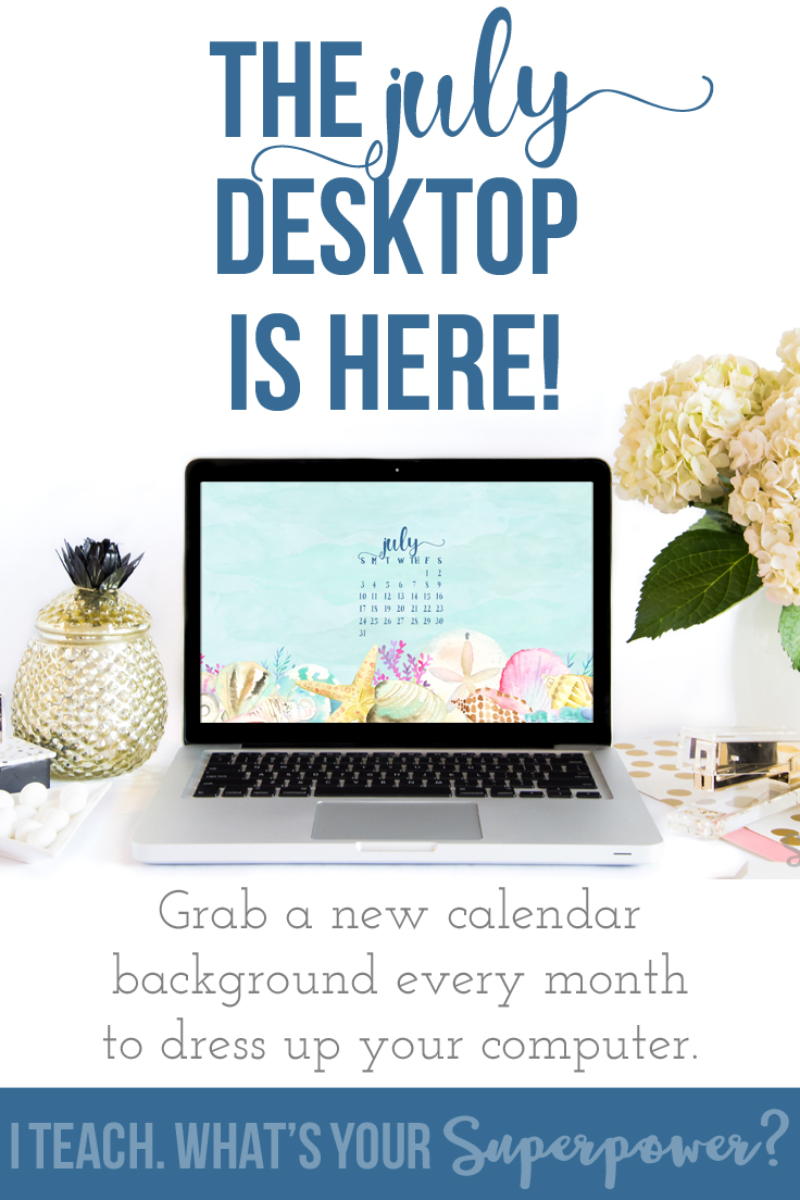New computer and iPad calendar added every month.