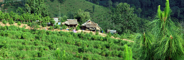 Karen village in the hills