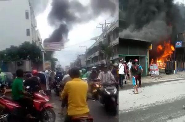 Toko Cat Nagamas di Jalan Kapten Jumhana Terbakar, Seisi Ruko Ludes