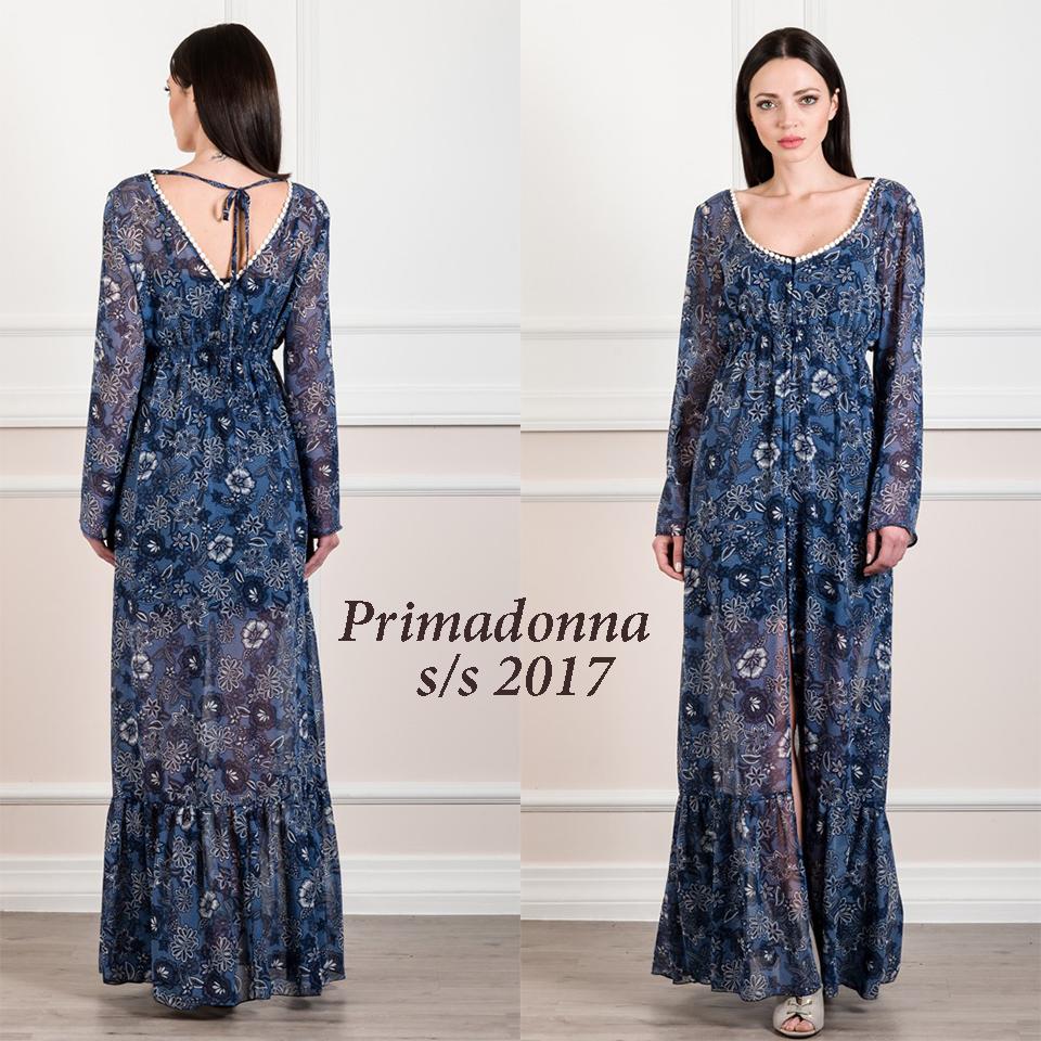 c7143bad766e Γυναικεία μόδα by Primadonna : Φόρεμα-καφτάνι maxi από μουσελίνα