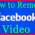 How to Delete A Video From Facebook