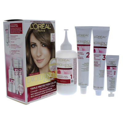 Bộ sản phẩm thuốc nhuộm tóc Loreal Excellence Creme 6A www.huynhgia.biz