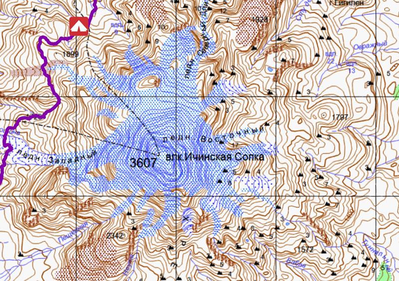 ичинский вулкан камчатка