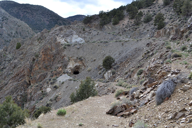 mine in the hillside