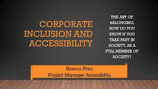 Corporate Inclusion and Accessibility, The art of belonging, how do you know if you take part in society, as A full member of society?