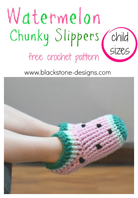 Chunky Slippers made from double crochet post stitches