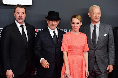 STEVEN SPIELBERG, TOM HANKS, AMY RYAN AND SEBASTIAN KOCH