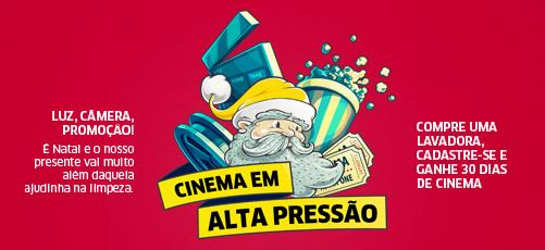 """Promoção: """"Cinema em Alta Pressão"""" blog topdapromocao.com.br Karcher facebook instagram"""