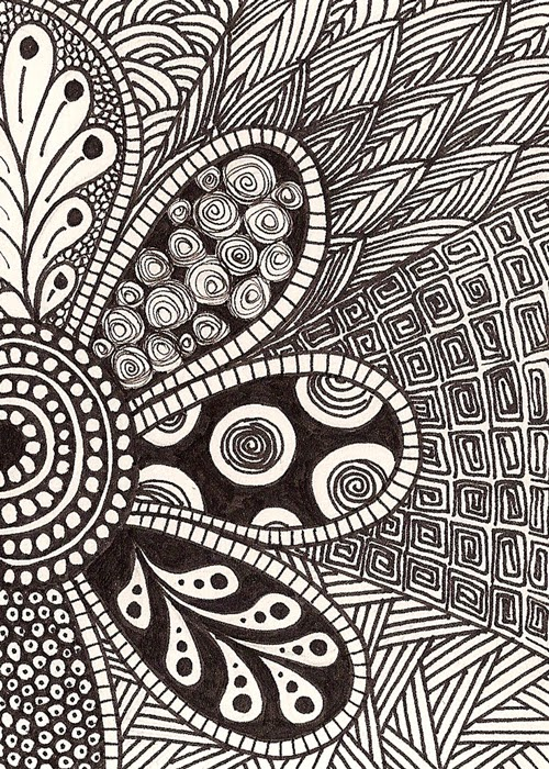 Abstract Art Drawing In Black And White Arts Crafts Ideas